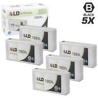 LD 5pk Reman Black Ink Cartridge for Epson 786XL T786XL120 WF-4630 WF-4640