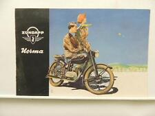 1953 Zundapp Norma Brochure With Technical Details L9366
