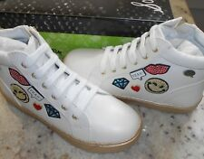 NEW Sam Edelman girls Sloane Odette White sneakers Trendy Super cute!!!! Size 1
