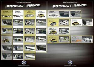 LASER HONDA CBF1000 2006- STAINLESS DUO-TECH OVAL MUFFLERS(PR)