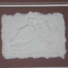 Signed Raleigh E. Kinney Framed Raised Relief Gambol Quail II 8 of 50 from 1987
