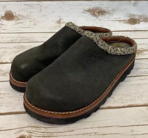 Simple Men's Slip On Leather Clogs Mules Shoes Sz 8 - 2685 Braided Trim -Read