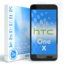 3x HTC One X Panzerfolie Displayschutz Schutzfolie Folie Klar