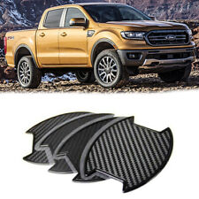 For Ford Ranger 4DR Mid-size pickup Carbon texture Side Door Handle Bowl Sticker