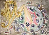 Margarita Bonke ORIGINAL Malerei PAINTING virus erotica erotika akt nu nude bild