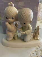 Precious Moments Figurine, #104019, With This Ring I..., Heart/Cross Marking
