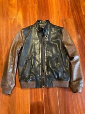 COACH MEN BOMBER LEATHER JACKET  SIZE XS 100% AUTHENTIC