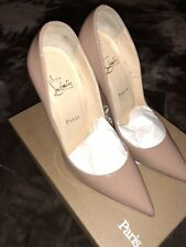 """PRE-OWNED CHRISTIAN LOUBOUTIN SO KATE 120mm PATENT """"NUDE"""" SZ 39"""