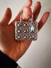 Dior charm carnage Dior mirror silver tone wristlet RARE