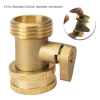 3/4 Inch Garden Hose 1 Way Shut Off Valve Water Pipe Faucet Connector Tool CS