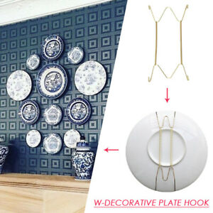Wall Display Plates Hanger W  Type Dish Spring Holder Invisible Hook Home Supply