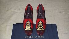 """NEW & RARE! $695 Ralph Lauren """"COLTON"""" Tartan Plaid Slippers Loafers Shoes Polo"""