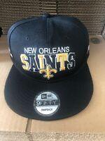 New Orleans Saints Snapback Hat Cap Nhl Football New Black