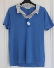 polo/T-shirt 2 en 1 femme bleu tbs taille 44 neuf
