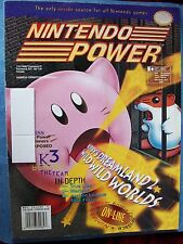 NINTENDO POWER MAGAZINE #72 KIRBY'S DREAMLAND 2, SECRET OF EVERMORE POSTER GOOD
