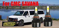 LED for SAVANA 1996-2019 Headlight Kit 9006 HB4 6000K White CREE Bulbs Low Beam