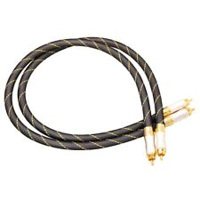 Dynavox High-End Cinchkabel 1.5 m, Paar, Stereo HiFi Cinch Kabel, vergoldet OFC