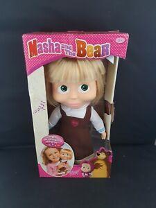 Masha and the Bear Singing Masha Doll 30 cm Interactive Pink Outfit Soft Plush