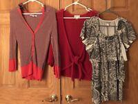 Old Navy Christopher Banks Womens Medium 3 piece Blouse Top Shirt Sweater Lot