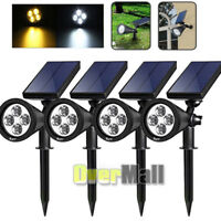 4Pack Solar 4 LED Waterproof Outdoor Landscape Lighting Spot light Auto On/Off
