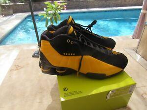 Nike Shox BB4 Men's 10.5 Vince Carter Black Metallic Gold Yellow AT7843-002