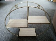 Round wall shelf unit