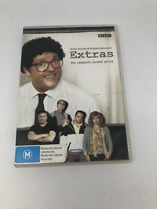 THE EXTRAS SEASON TWO DVD REGION 4 TV Show Very Good Condition FREE SHIPPING