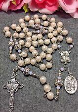 Unbreakable rosary, O.L Of Lourdes/St. Bernadette Catholic rosary - handmade