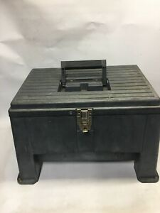 Stack-on Step Stool Tool Box Lockable Inner Tray Made in USA 17.5 in.