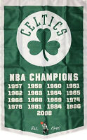 Boston Celtics NBA Championship Flag 3x5 ft Vertical Sports Banner Man-Cave New
