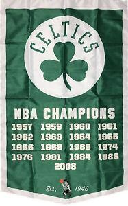 Boston Celtics NBA Championship Flag 3x5 ft Vertical Sports Banner Man-Cave New