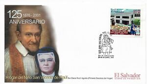 EL SALVADOR 2001 CHILDREN´S REFUGE SAN VICENTE DE PAUL NUN RELIGION FDC