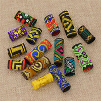 15x Women Girl Dreadlock Beads Hair Braid Dread Fabric Tibetan DIY Jewelry Craft