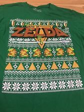 Legend Of Zelda Christmas Sweater Style Large T Shirt Vintage Nintendo NES
