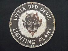 Devil Sign Old Vintage Original Tin Metal 1940s Halloween Ratrod Steam Punk