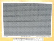 O gauge (1:48 scale) grey roof tile self adhesive vinyl - A4 sheet (297X210mm)