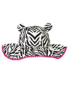 GYMBOREE WILD FOR ZEBRA PRINTED SKIN w/ EARS SUN HAT 0 12 24 2T 3T 4T 5T NWT