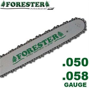Forester Chainsaw Bar and Chain For Husqvarna Fits Large Mount, 3/8, .050 & .058