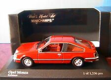 OPEL MONZA A 3.0S 1980 KARMINROT RED MINICHAMPS 400 045121 1/43 ROUGE ROSSO