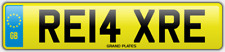 Relax Relaxed number plate RE14 XRE CAR REG FEES PAID RELAXING DRIVE CHILL COMFY
