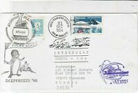 Russia + U.S.A 1994 Antartic Treaty Inspection  stamps cover ref 21775