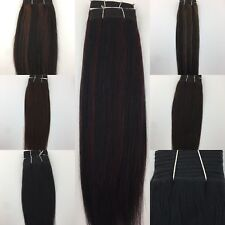 "100% Human Hair Extensions Straight Silky Weft 8""-20"" 100g UK Seller"