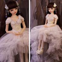 60cm 1/3 BJD Doll Mädchen Spielzeug Puppe Mit Make-up + Abnehmbare Augen + Kleid