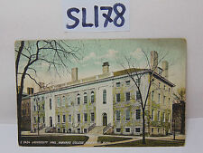 VINTAGE 1908 POSTCARD POSTED STAMP CAMBRIDGE MA. UNIVERSITY HALL HARVARD COLLEGE