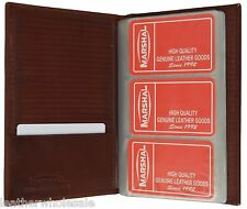 Leather 120 Cards Business Name ID Credit Card Holder Book Case Organizer New