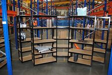 5 Bays of Steel 180x90x45cm 5 Tier Garage Shed Racking Storage Shelving Units