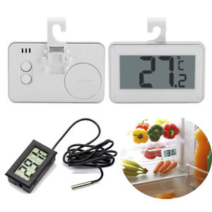 Waterproof Digital LCD Fridge Freezer Thermometer Hanging Hook Magnet Stand