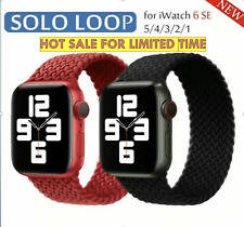 Solo Loop Silicone Braided Strap Elastic Belt for Apple Watch 6 SE 5 4 3 21 Band