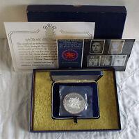 1969 PRINCE OF WALES INVESTITURE 110 gr .999 FINE SILVER MEDAL still mint sealed