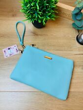 Ladies Turquoise Saffiano Effect Clutch Bag with Detachable Strap Occasion Wear
